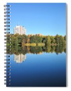 Autumn By The Triangle Lake In Stockholm Spiral Notebook
