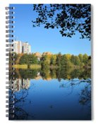 Autumn By The Lake 6 Spiral Notebook