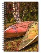 Autumn Canoes Spiral Notebook