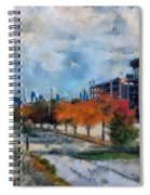 Autumn Chicago White Sox Us Cellular Field Mixed Media 03 Spiral Notebook