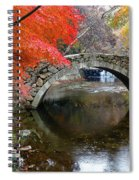 Autumn Color And Old Stone Arched Spiral Notebook