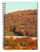 Autumn Color On Rolling Hills Spiral Notebook