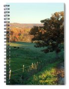 Autumn Color On Rolling Hills And Farmland Spiral Notebook