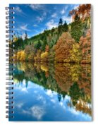 Autumn Colour Staindale Lake Spiral Notebook
