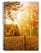 Autumn Cottage Spiral Notebook