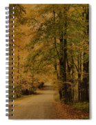 Autumn Country Road Spiral Notebook
