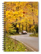 Autumn Drive Spiral Notebook