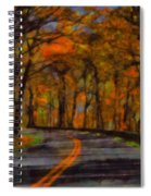 Autumn Drive Freedom And Beauty Spiral Notebook