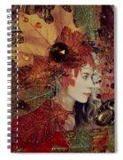 Autumn Dryad Collage Spiral Notebook