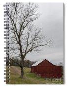 Autumn Dusk On The Farm Spiral Notebook