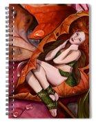 Autumn Fairy Spiral Notebook