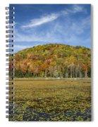 Serene Pond Vermont Autumn Panorama Spiral Notebook