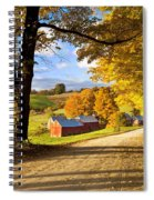 Autumn Farm In Vermont Spiral Notebook