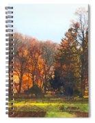 Autumn Farm With Harrow Spiral Notebook