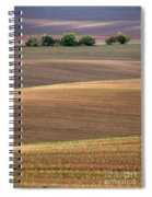 Autumn Fields Of Moravia Spiral Notebook