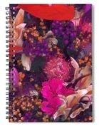 Autumn Flower Bouquet Spiral Notebook