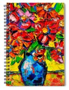 Autumn Flowers 7 Spiral Notebook