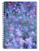 Autumn Flowers In Blue Spiral Notebook