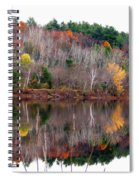Autumn Foliage River Reflection Spiral Notebook