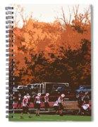 Autumn Football With Cutout Effect Spiral Notebook