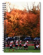 Autumn Football With Dry Brush Effect Spiral Notebook