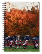 Autumn Football With Sponge Painting Effect Spiral Notebook
