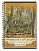 Autumn Forest - George Washington Carver Quote Spiral Notebook