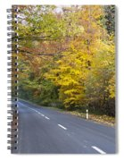 Autumn Forest Road Spiral Notebook