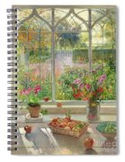 Autumn Fruit And Flowers Spiral Notebook