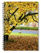 Autumn Gold Spiral Notebook