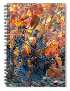 Autumn Grapes Spiral Notebook