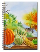 Autumn Harvest Fall Delight Spiral Notebook