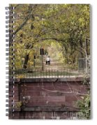 Autumn Hike On The C And O Canal Towpath At Seneca Creek Spiral Notebook
