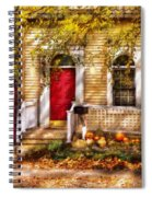 Autumn - House - A Hint Of Autumn  Spiral Notebook