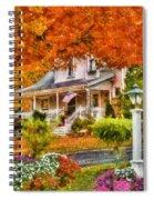 Autumn - House - The Beauty Of Autumn Spiral Notebook