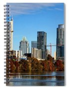 Autumn In Austin Spiral Notebook