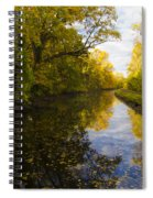 Autumn In Morrisville Pa Along The Delaware Canal Spiral Notebook