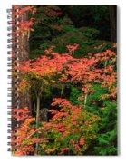 Autumn In Mount Rainier Forest Spiral Notebook