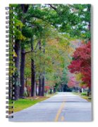 Autumn In The Air Spiral Notebook