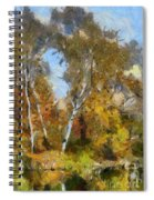 Autumn In The Marshes Spiral Notebook