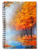 Autumn In The Morning Mist Spiral Notebook