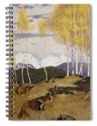 Autumn In The Mountains Spiral Notebook