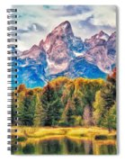 Autumn In The Tetons Spiral Notebook