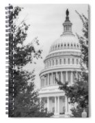 Autumn In The Us Capitol Bw Spiral Notebook