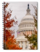 Autumn In The Us Capitol Spiral Notebook