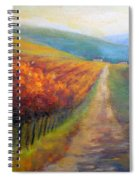 Autumn In The Vineyard Spiral Notebook