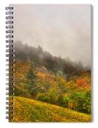 Autumn Just Around The Bend Blue Ridge Parkway In Nc Spiral Notebook