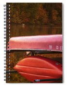 Autumn Kayaks On Newport Lake Spiral Notebook