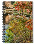 Autumn Lake And Swan Spiral Notebook