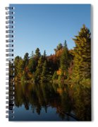 Autumn Lake In The Forest - Reflection Tranquility Spiral Notebook